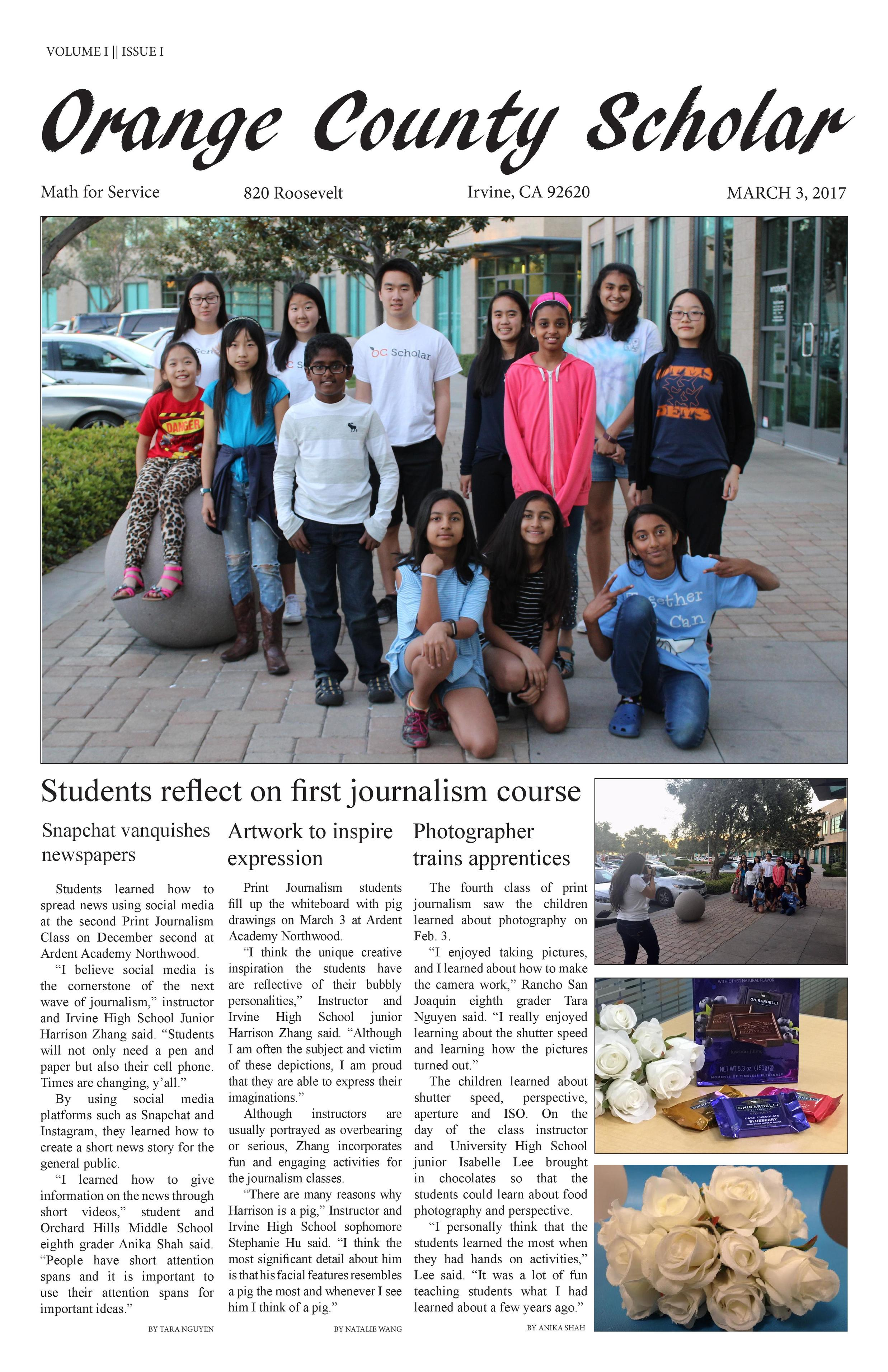 2017 Journalism Course Paper 1